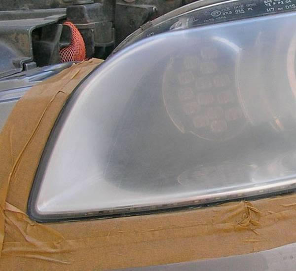 Шлифовка стекла фары под линзу своими руками 53